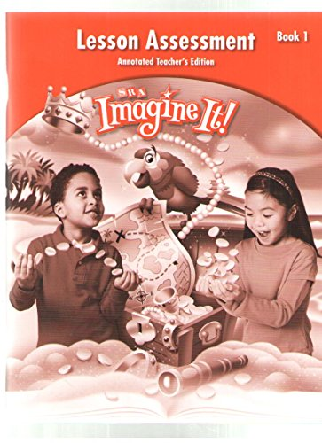9780076130726: SRA Imagine It!, Lesson Assessment, Annotated Teacher's Edition, Book 1