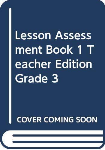 Lesson Assessment Book 1 Teacher Edition Grade: McGraw Hill/SRA