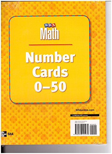 9780076145270: SRA Math Number Cards 0-50