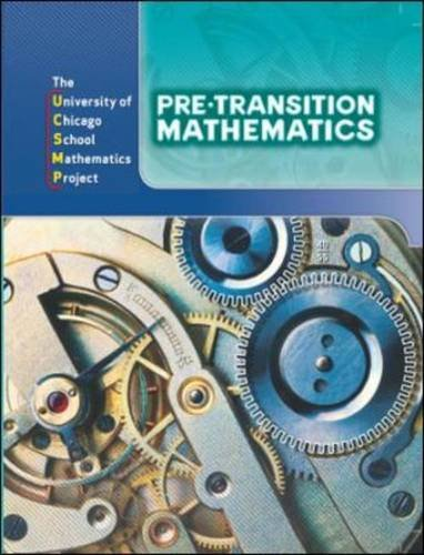 9780076185696: Pre-Transition Mathematics (University of Chicago School Mathematics Project)