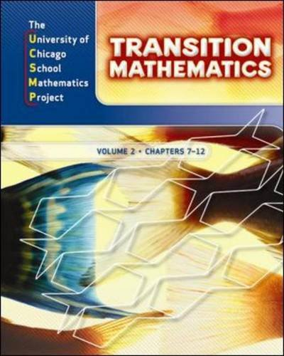 9780076185801: UCSMP Transition Mathematics: Student Edition, Volume 2 / Chapters 7-12