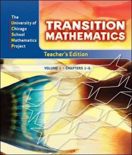 9780076185825: Transition Mathematics: Teacher's Edition 2 Volume Set (UCSMP TRANSITION MATHEMATICS)