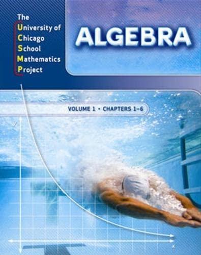 9780076185924: University of Chicago School Mathematics Project: Algebra Complete, Two Volume Set (UCSMP TRANSITION MATHEMATICS)