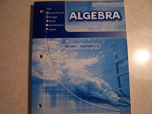 9780076185948: Algebra Teaching Resources: Volume 1, Chapters 1-6