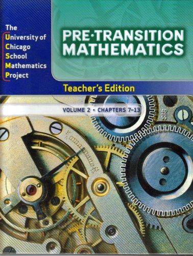 9780076189281: Pre-Transition Mathematics, Vol. 2, Teacher's Edition