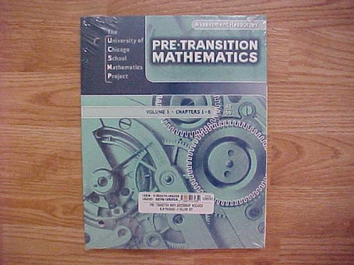9780076189359: Pre Transition Mathematics Assessment Resources BLM Package 2 Volume Set UCSMP Volume 1 Chapters 1-6 Volume 2 Chapters 7-13 (The University of Chicago School Mathematics Project)