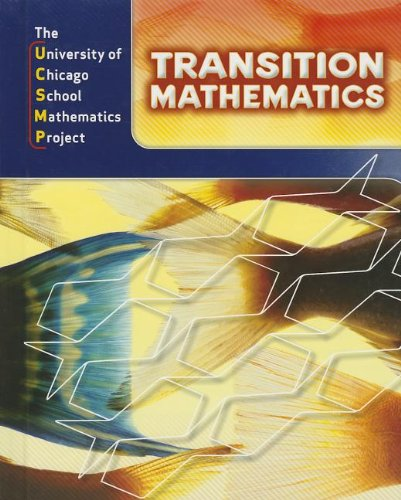 Transition Mathematics: Ucsmp Grades 6-12: Not Available