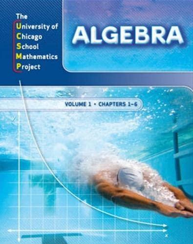 9780076213863: Algebra: Ucsmp Grades 6-12 (UCSMP Algebra)