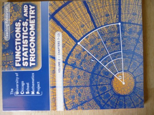9780076214105: Functions, Statistics, and Trigonometry: Teaching Resources, Volume 1, Chapters