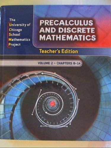 9780076214235: Precalculus and Discrete Mathematics, Teacher's Edition Volume 2 Chapters 8-14 ISBN 0076214230 9780076214235