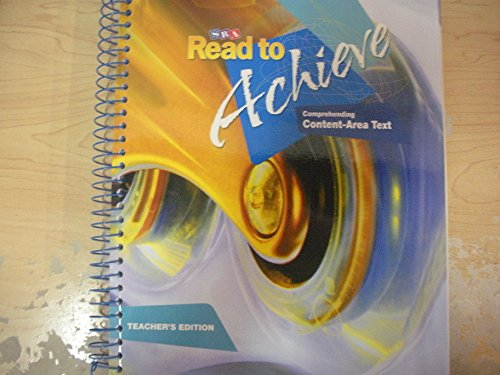 9780076219889: SRA Read to Achieve Comprehending Context-area Text