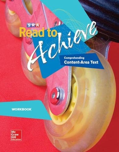 9780076219902: SRA Read to Achieve: Comprehending Content-Area Text (Workbook)