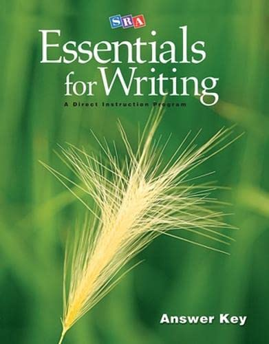 9780076234752: Essentials for Writing Answer Key