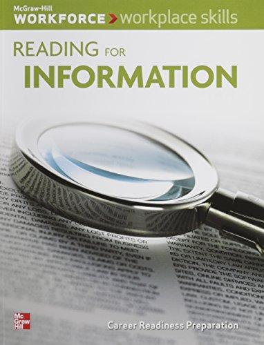 9780076555741: Workplace Skills: Reading for Information, Student Workbook (WORKFORCE)