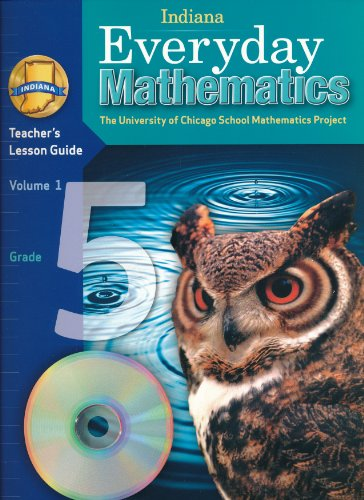9780076559763: Indiana Everyday Mathematics Teacher's Lesson Guide Grade 5 Volume 1