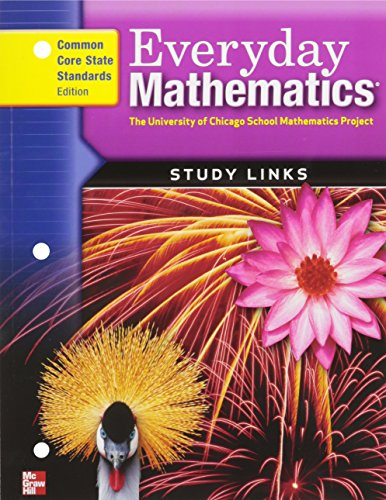 9780076576623: Everyday Mathematics Study Links: Grade 4: Common Core State Standards Edition