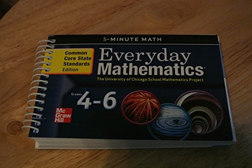 9780076577231: Everyday Math 5-Minute Math Grades 4-6 Common Core State Standards