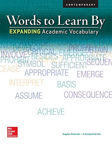 9780076586332: Words to Learn By: Expanding Academic Vocabulary