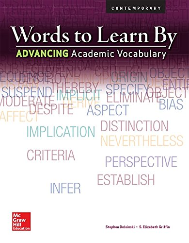 9780076586349: Words to Learn By: Advancing Academic Vocabulary