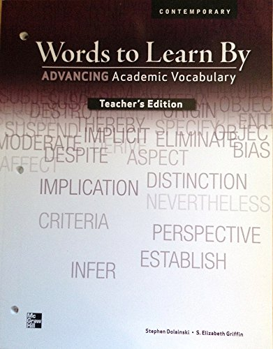 9780076586387: Words to Learn By: Advancing Academic Vocabulary