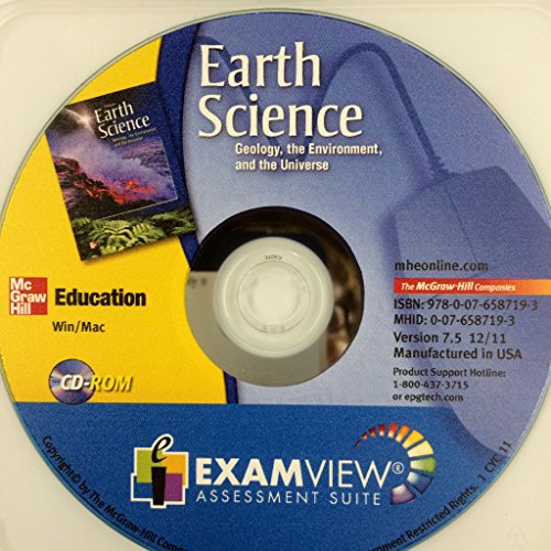 9780076587193: Examview Assessment Suite: Earth Science: Geology, the Environment and the Universe