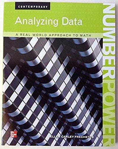 9780076592333: Analyzing Data, a Real World Approach to Math: Analyzing Data