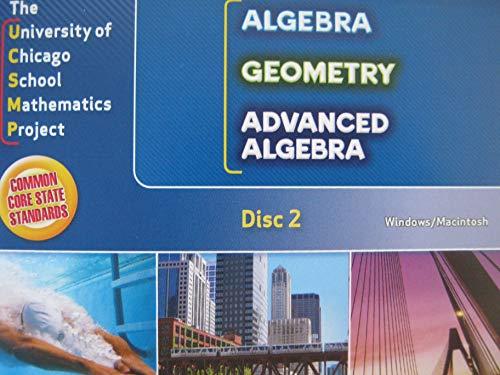 9780076593996: UCSMP Algebra / Geometry / Advanced Algebra Disc 2 Examview Assessment Disc 2 CD-ROM