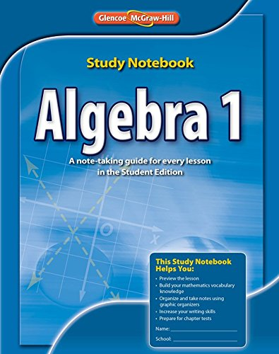 9780076602872: Algebra 1 Study Notebook