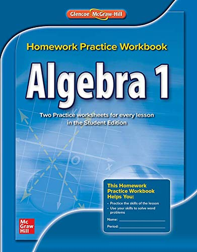 9780076602919: Algebra 1, Homework Practice Workbook (Merrill Algebra 1)