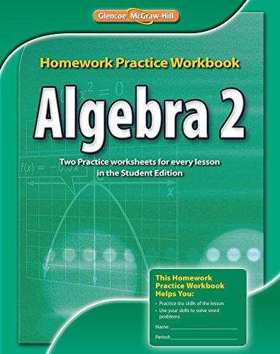 9780076602995: Algebra 2, Homework Practice Workbook (Merrill Algebra 2)