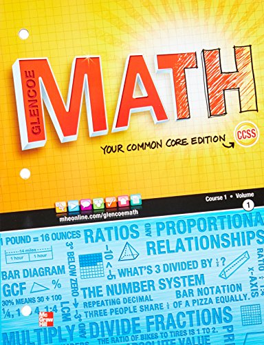 9780076605538: Glencoe Math, Course 1, Student Edition, Volume 1 (MATH APPLIC & CONN CRSE)
