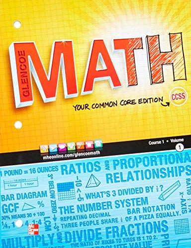 9780076605538: Glencoe Math, Course 1, Student Edition, Volume 1