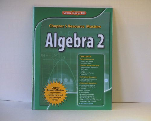9780076607891: Algebra 2: Chapter 5 Resource Masters ISBN 9780076607891 0076607895 2011 by Glencoe/McGraw-Hill by Glencoe/McGraw-Hill
