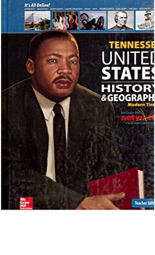 Tennessee United States History & Geography Modern Times Teacher Edition: Appleby, Joyce; ...