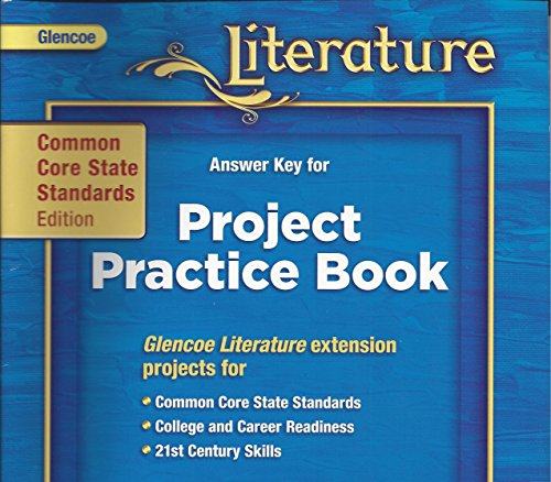9780076614035: Answer Key for Project Practice Book, CC Standards Edition Grade 6, Course 1