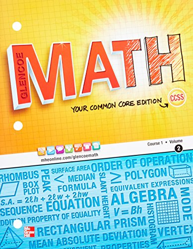 9780076618392: Glencoe Math, Course 1, Student Edition, Volume 2 (MATH APPLIC & CONN CRSE)