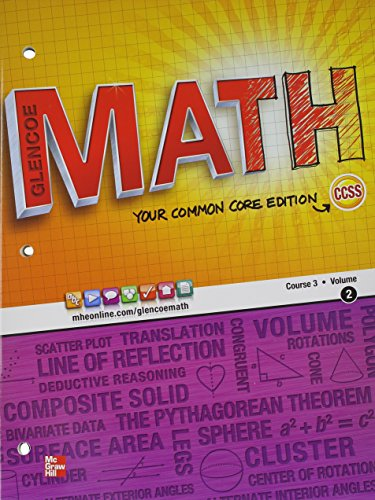 9780076619047: Glencoe Math, Course 3, Student Edition, Volume 2 (MATH APPLIC & CONN CRSE)