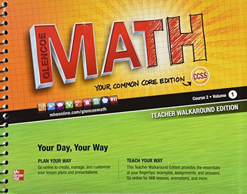 9780076619276: Glencoe Math, Course 2, Vol. 1