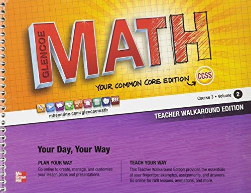 9780076620180: Math Course 3 Teacher Edition Vol.