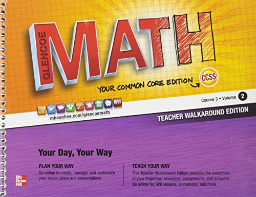 9780076620180: Glencoe Math Course 3 Teacher Edition Vol. 2