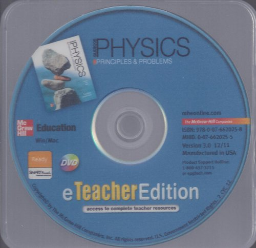 9780076620258: Physics: Principles and Problems Teacher Edition (CD)