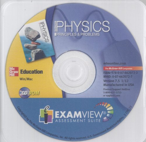 9780076620722: Glencoe Physics Principles & Problems Examview Assessment Suite