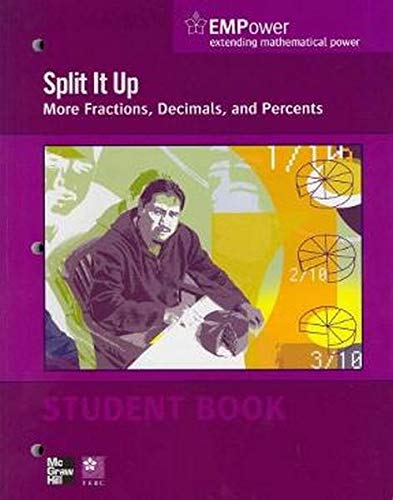 9780076620913: EMPower Math, Split It Up: More Fractions, Decimals, and Percents, Student Edition