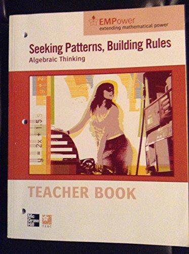 9780076620968: Seeking Patterns, Building Rule - Algebraic Thinking
