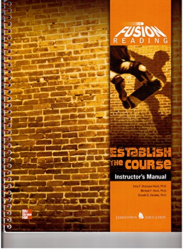 9780076624348: Fusion Reading Establish the Course Instructor's Manual