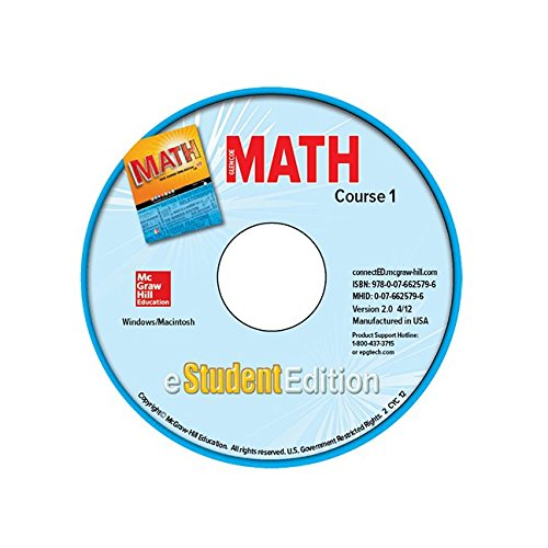 9780076625796: Glencoe Math, Course 1, eStudentEdition CD-ROM