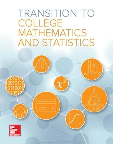 9780076626267: Transition to College Mathematics and Statistics