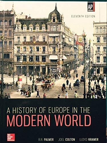 Palmer, A History of Europe in the: R. R. Palmer,