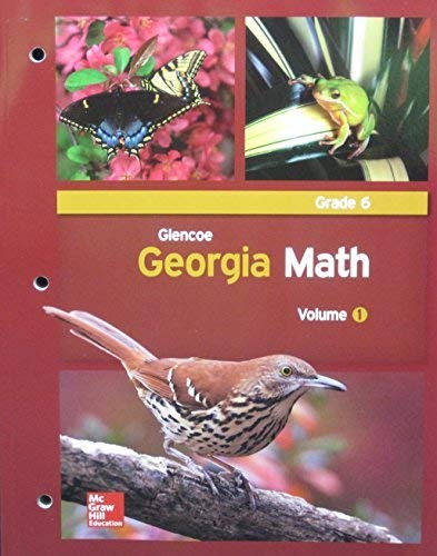 9780076654833: Glencoe Georgia Math, Grade 6, Volume 1