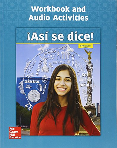 9780076668496: Asi se dice! Level 1, Workbook and Audio Activities
